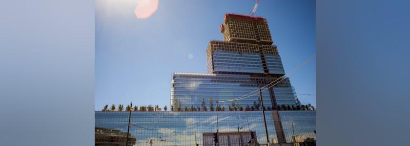 Paris, France, Construction SIte, New Court House Building, « Palais de justice de Paris », Porte de Clichy (Credit Arch: Renzo Piano Workshop)