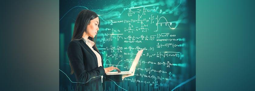 Technology and algorithm concept
