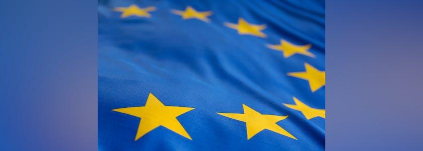 zoom sur les étoiles du drapeau européen