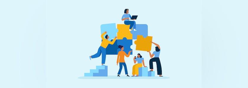 Solidarité, entreprises, travail d'équipe