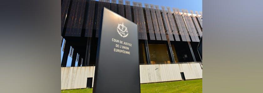 Entrée de la Cour de justice de l'union européenne