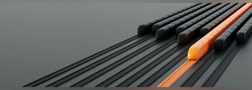 Rails et trains en 3 D