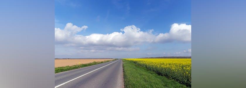 Route parc régional national de l'Oise
